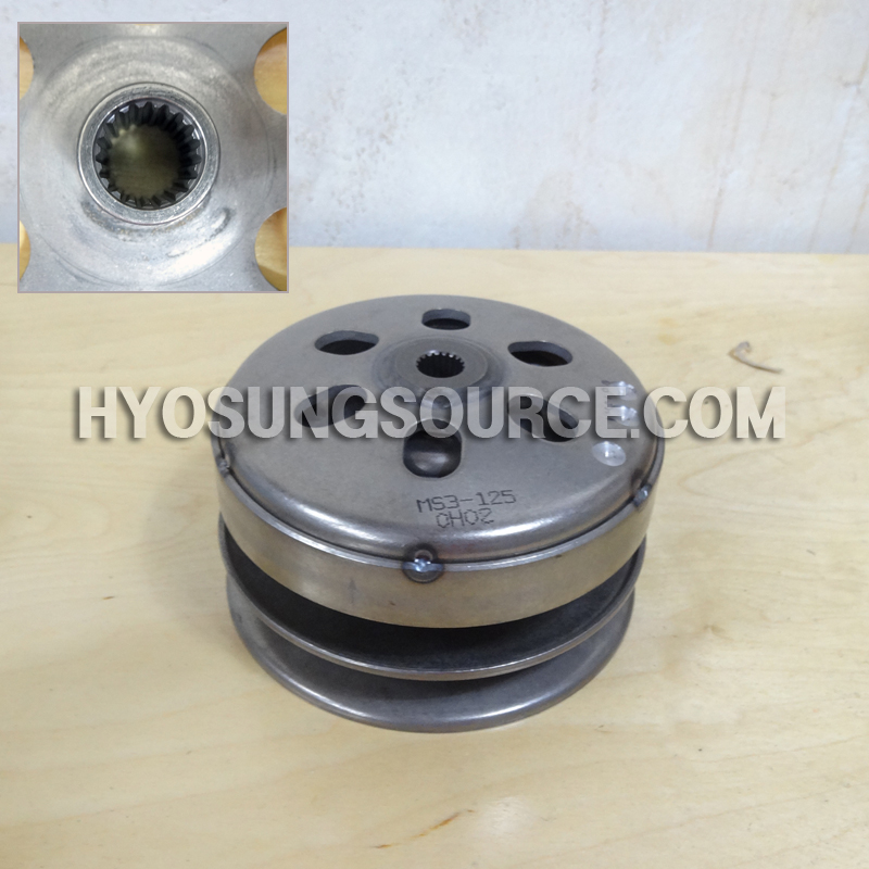 Genuine Rear Clutch Driven Pulley Assy 19 Tooth Hyosung MS3 125