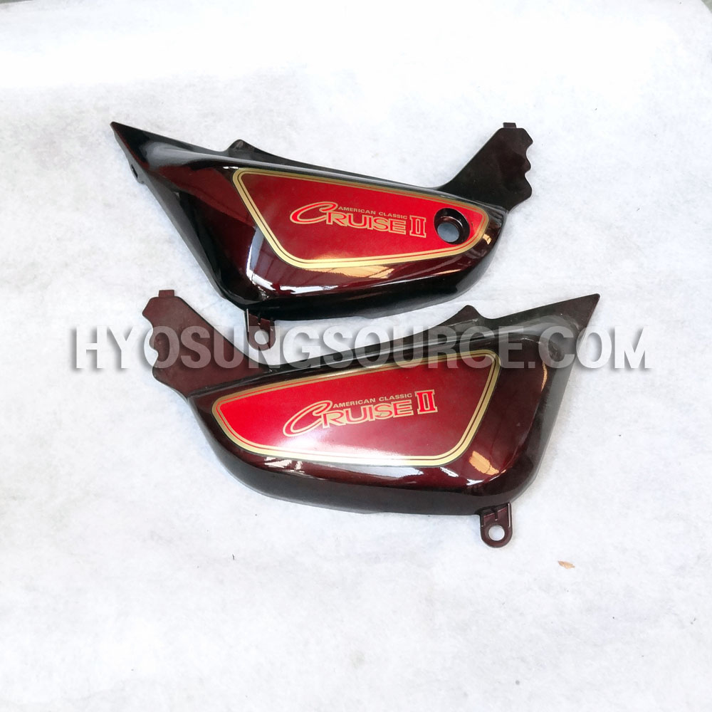 Genuine Left & Right Side Cover Set Brown Hyosung GA125