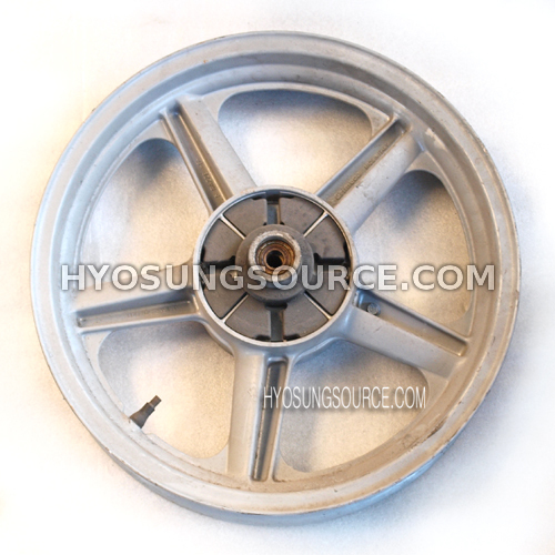 Genuine Rear Wheel Rim Silver Hyosung GA125 (secondhand)