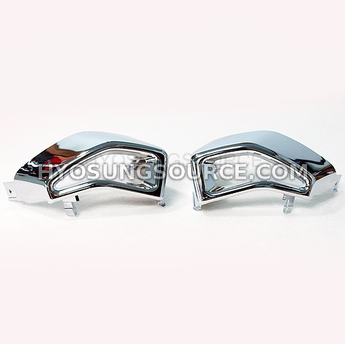 Genuine Air Duct Covers Front Chrome Hyosung GV650