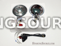 "5"" Pair Replacement Foglight Clear Lens Unit & Bulb/ Wiring"