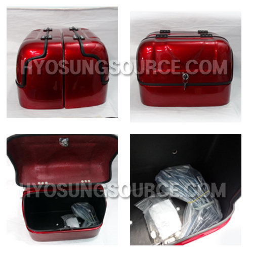New Hard Trunk Saddlebags Red For Hyosung GV125 GV250