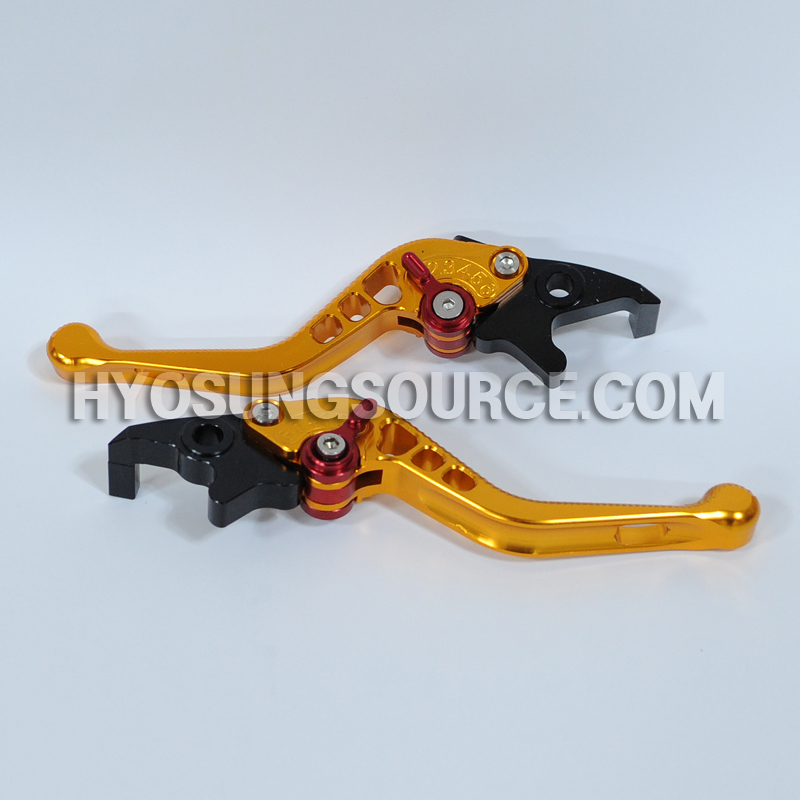 Adjustable Folding Brake & Clutch Levers Gold Daelim S3 125 250