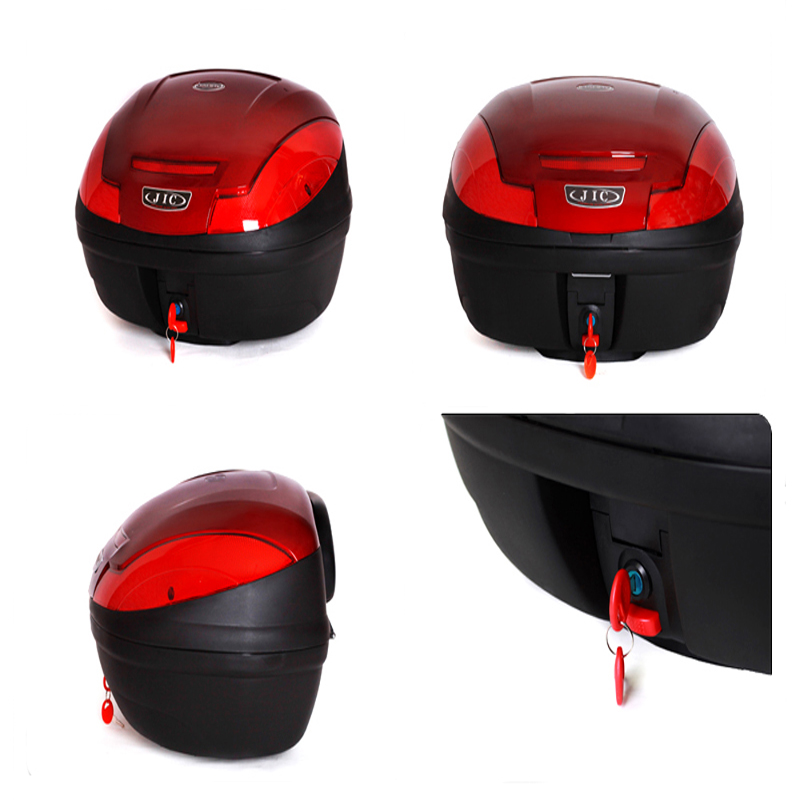 Universal Luggage Top Case 48ltr Two Helmets Quick Release Red